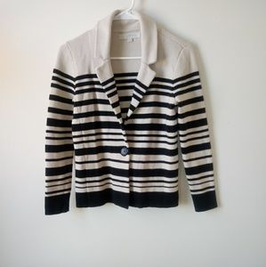 Ann Taylor Loft striped knit sweater cardigan xs